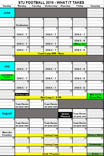 2019-05-23 Summer Calendar