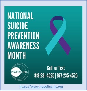 2019-09-19 National Suicide Prevention Month